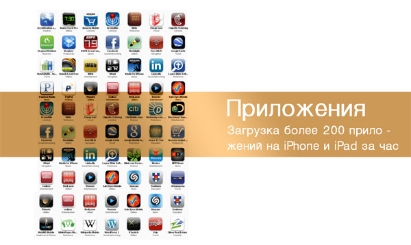 Установка приложений на iPhone/iPad в Киеве