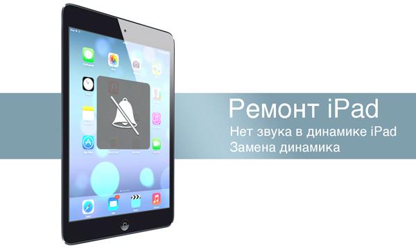 Не работает динамик в iPad