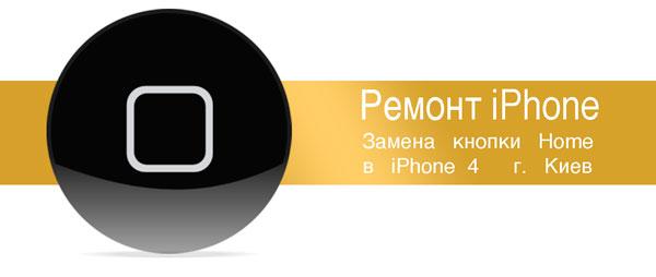 Ремонт и замена кнопки home Iphone в Киеве