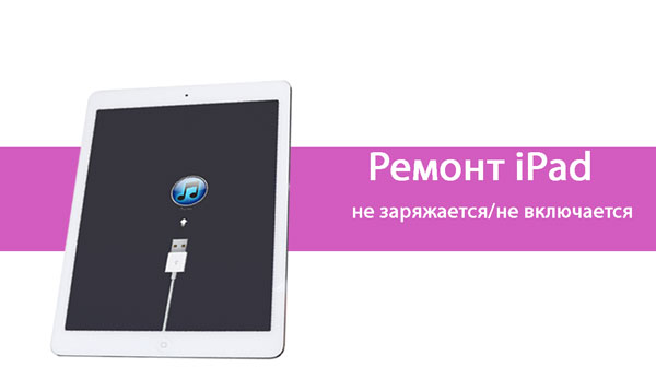 Не заряжается/не включается iPad