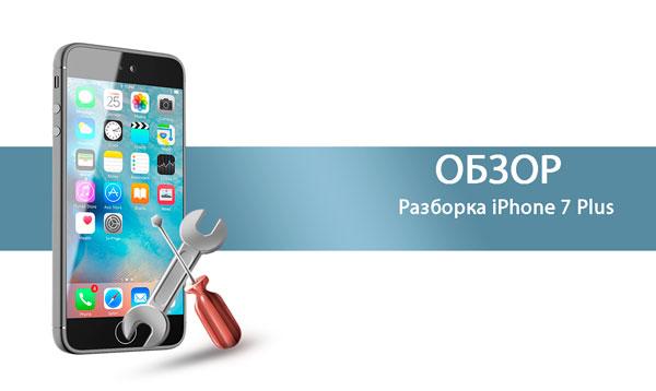 Разборка iPhone 7 Plus
